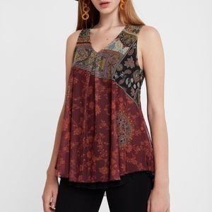 Desigual Indira Boho double layer T-shirt